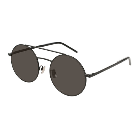 Saint Laurent Uni-sex Sl210f Black Round Sunglasses