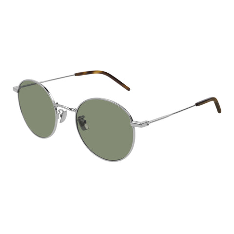 Saint Laurent Uni-sex Sl250 Silver Round Sunglasses