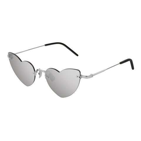 Saint Laurent Female Sl254loulou Silver Cat-eye Sunglasses