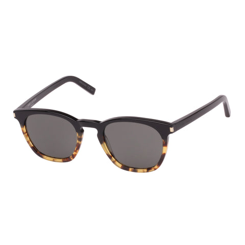 Saint Laurent Uni-sex Sl28 Black Modern Rectangle Sunglasses