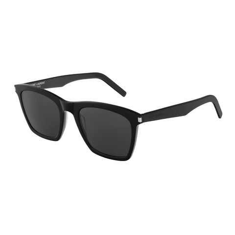 Saint Laurent Male Sl281slim Black Modern Rectangle Sunglasses