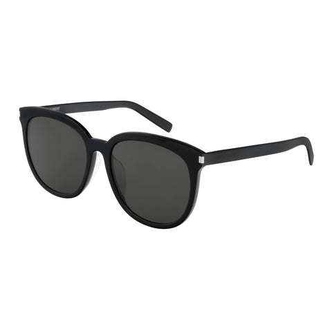 Saint Laurent Male Sl284fslim Black Round Sunglasses