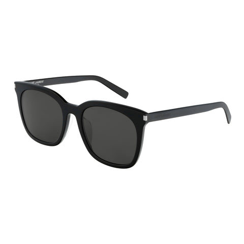 Saint Laurent Male Sl285fslim Black Round Sunglasses