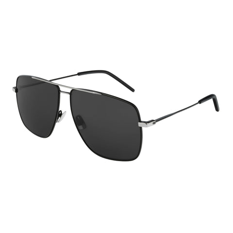 Saint Laurent Uni-sex Sl298 Black Modern Rectangle Sunglasses