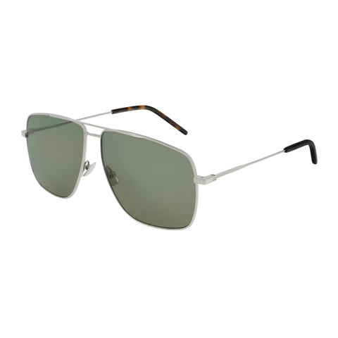 Saint Laurent Uni-sex Sl298 Silver Modern Rectangle Sunglasses