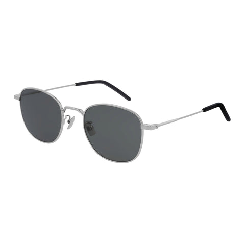 Saint Laurent Uni-sex Sl299 Silver Round Sunglasses