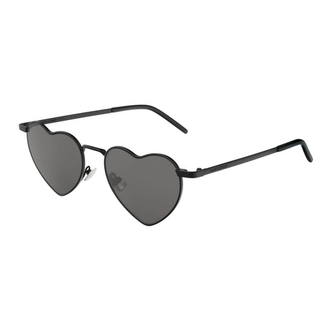 Saint Laurent Uni-sex Sl301loulou Black Round Sunglasses