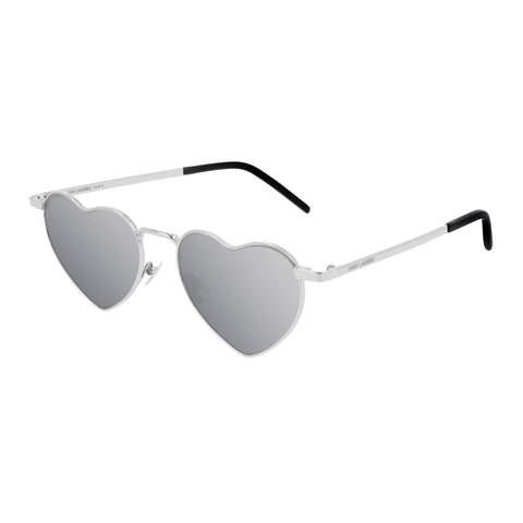 Saint Laurent Uni-sex Sl301loulou Silver Round Sunglasses
