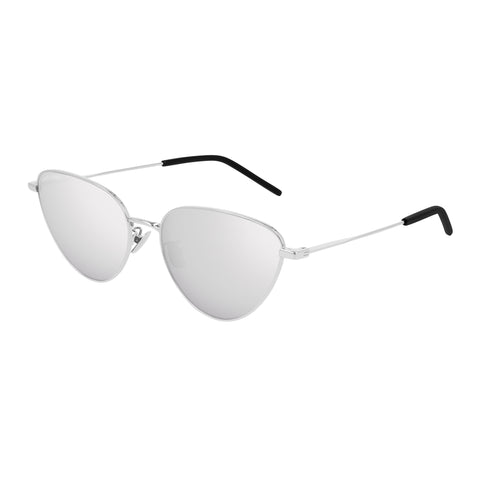 Saint Laurent Uni-sex Sl310 Silver Cat-eye Sunglasses