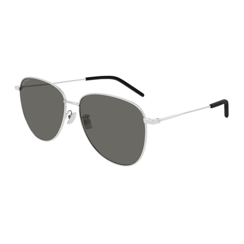Saint Laurent Female Sl328k Silver Aviator Sunglasses