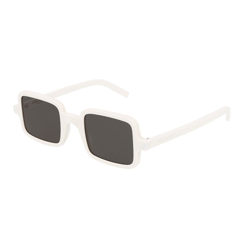 Saint Laurent Uni-sex Sl332 White Rectangle Sunglasses