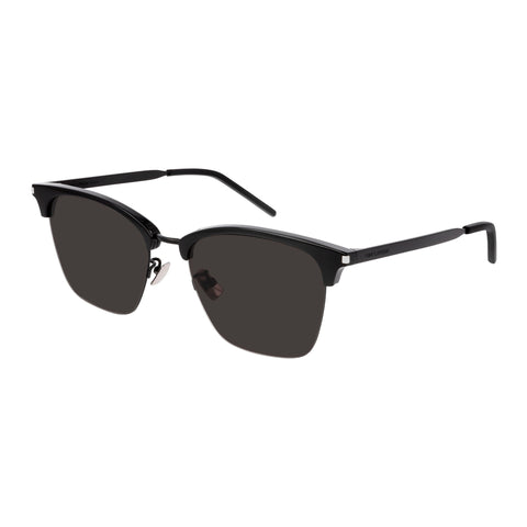 Saint Laurent Male Sl340 Black Rectangle Sunglasses