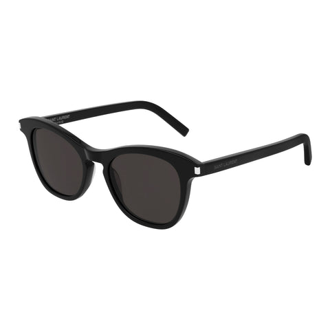 Saint Laurent Uni-sex Sl356 Black Round Sunglasses