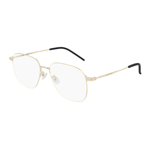 Saint Laurent Uni-sex Sl391wire Gold Round Optical Frames