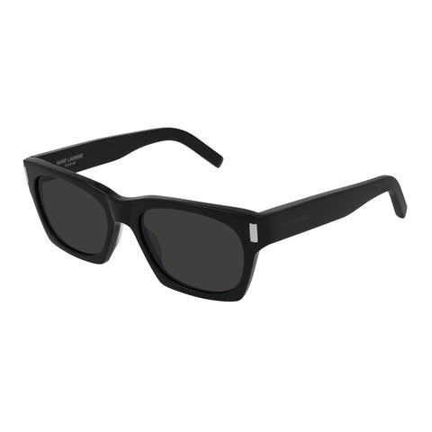 Saint Laurent Uni-sex Sl402 Black Rectangle Sunglasses