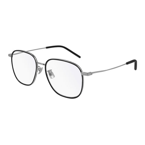 Saint Laurent Uni-sex Sl412 Silver Rectangle Optical Frames