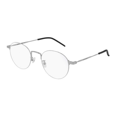 Saint Laurent Uni-sex Sl414kwire Silver Round Optical Frames