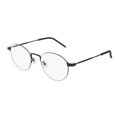 Saint Laurent Uni-sex Sl414kwire Black Round Optical Frames