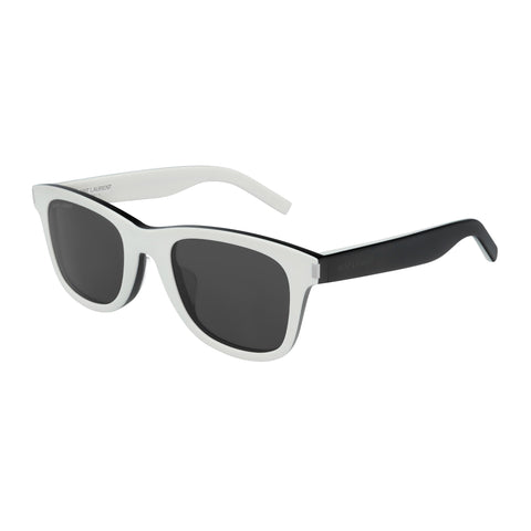 Saint Laurent Uni-sex Sl51f White Modern Rectangle Sunglasses