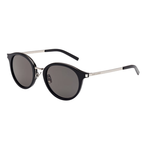 Saint Laurent Uni-sex Sl570 Black Round Sunglasses