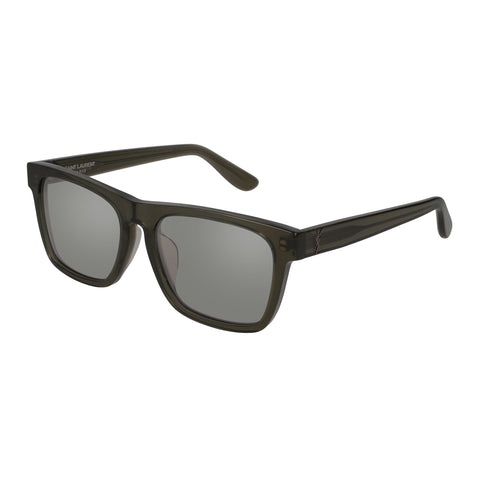 Saint Laurent Uni-sex Slm13f Green Modern Rectangle Sunglasses