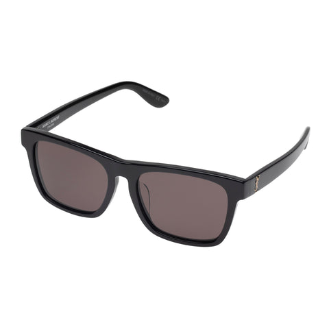 Saint Laurent Uni-sex Slm13f Black Modern Rectangle Sunglasses
