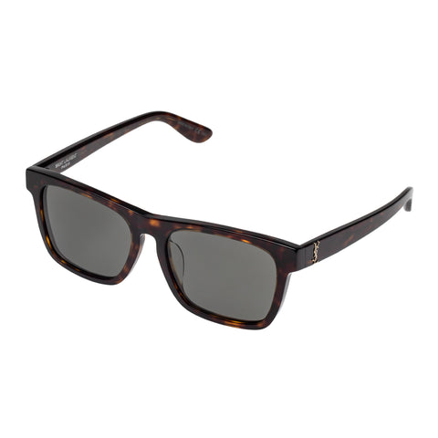 Saint Laurent Uni-sex Slm13f Tort Modern Rectangle Sunglasses