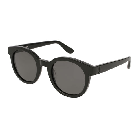 Saint Laurent Uni-sex Slm15 Black Round Sunglasses