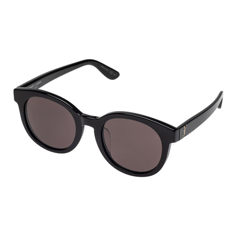 Saint Laurent Uni-sex Slm15f Black Round Sunglasses
