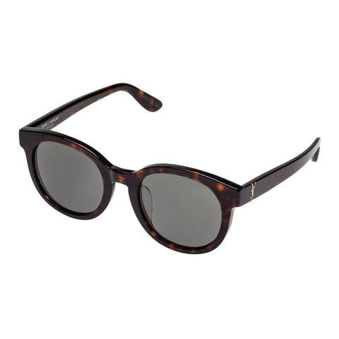 Saint Laurent Uni-sex Slm15f Tort Round Sunglasses