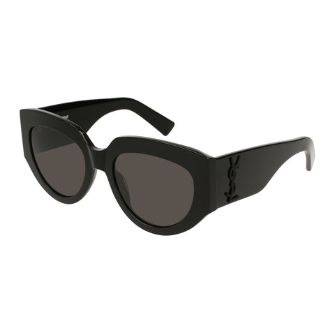 Saint Laurent Female Slm26rope Black Round Sunglasses
