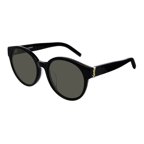Saint Laurent Female Slm31f Black Round Sunglasses