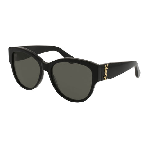 Saint Laurent Female Slm3f Black Round Sunglasses