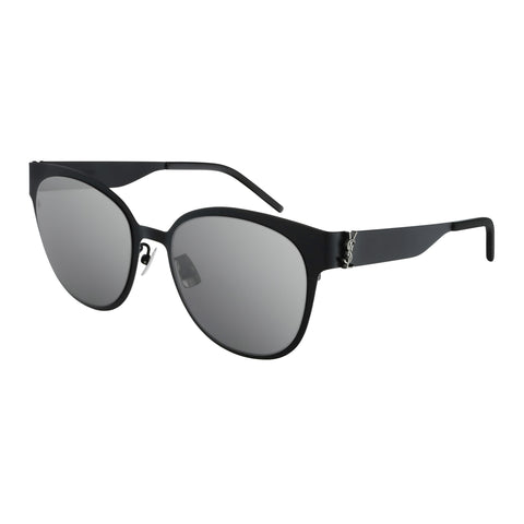 Saint Laurent Female Slm42 Black Round Sunglasses
