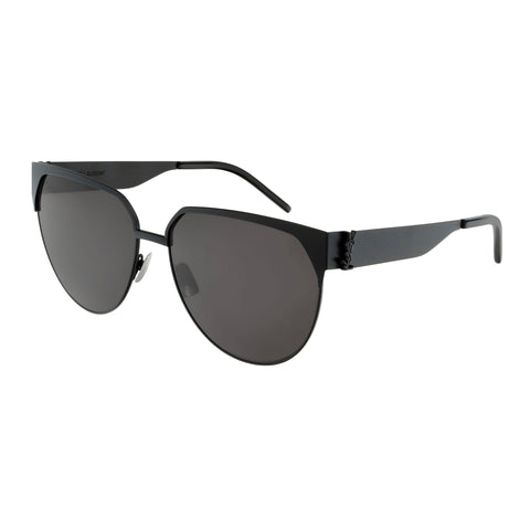 Saint Laurent Female Slm43 Black Round Sunglasses