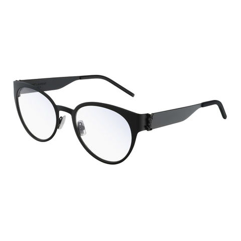 Saint Laurent Female Slm45 Black Round Optical Frames