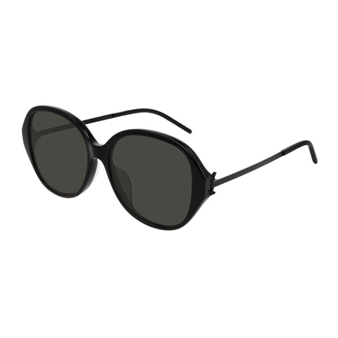 Saint Laurent Female Slm48sbk Black Round Sunglasses