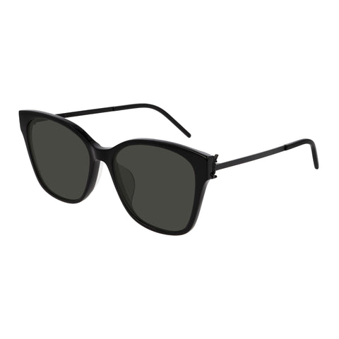Saint Laurent Female Slm48sk Black Rectangle Sunglasses