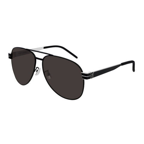 Saint Laurent Uni-sex Slm53 Black Rectangle Sunglasses