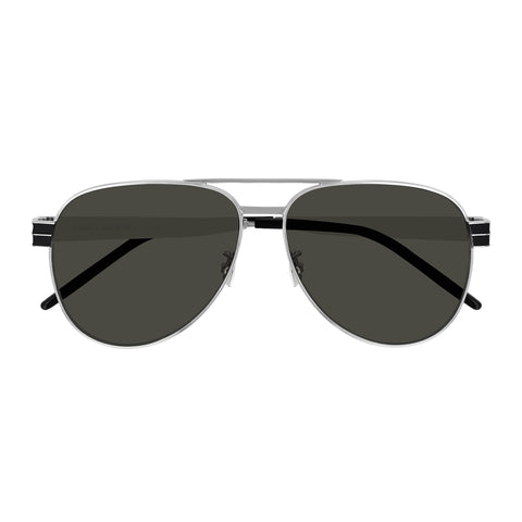 Saint Laurent Uni-sex Slm53 Silver Rectangle Sunglasses