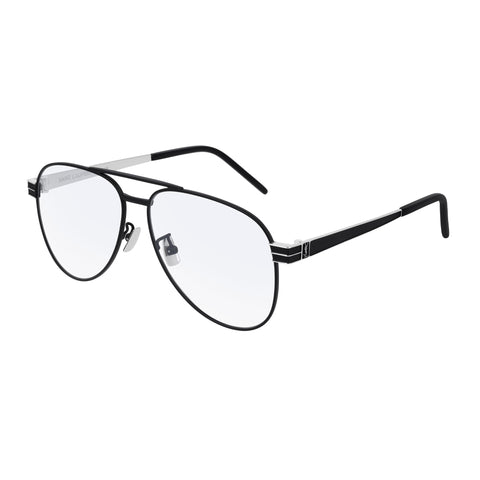 Saint Laurent Uni-sex Slm54 Black Aviator Optical Frames