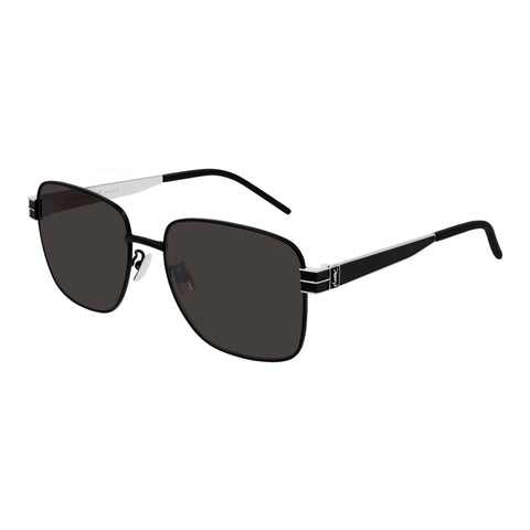 Saint Laurent Uni-sex Slm55 Black Rectangle Sunglasses