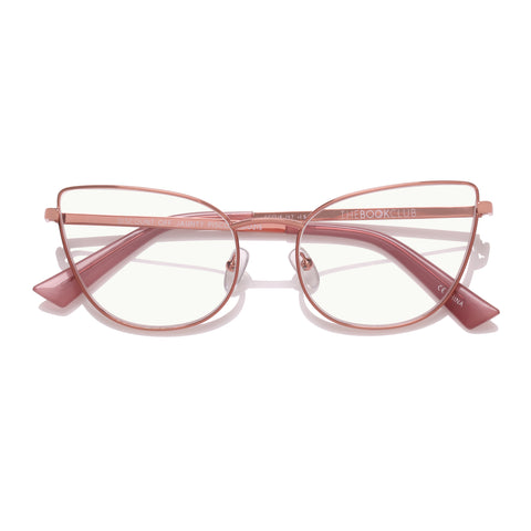 The Book Club Female Discount Off Jaunty Rose Cat-eye Readers