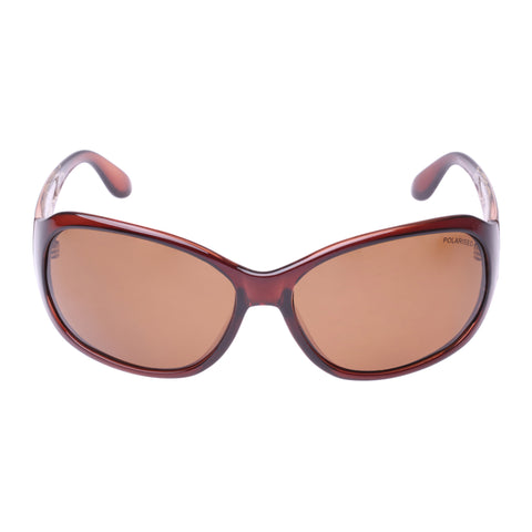Cancer Council Female Berri Brown Wrap Fashion Sunglasses