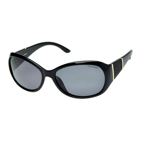 Cancer Council Female Leura Black Wrap Fashion Sunglasses