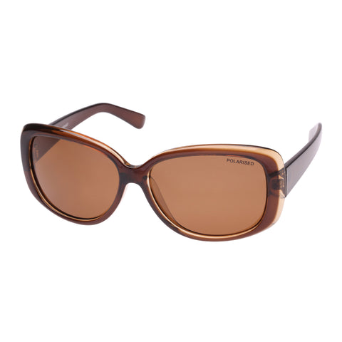 Cancer Council Female Garland Brown Wrap Fashion Sunglasses