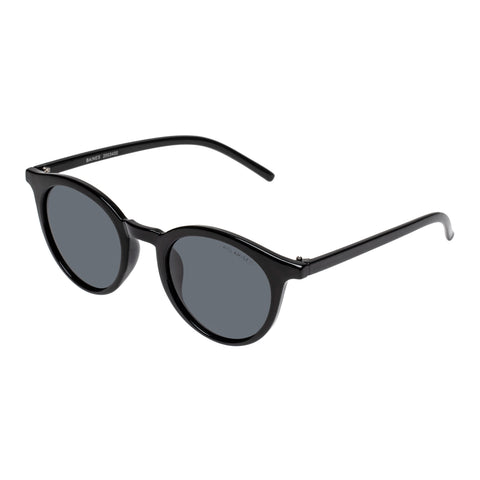 Cancer Council Uni-sex Baines Black Round Sunglasses