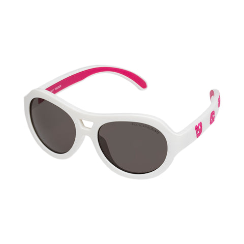 Cancer Council Female Bandicoot T White Round Sunglasses