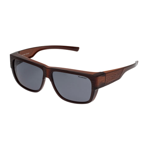 Cancer Council Uni-sex Natone Brown Modern Rectangle Sunglasses