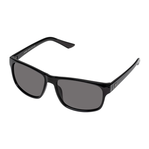 Tradie Male Leader Black Modern Rectangle Sunglasses
